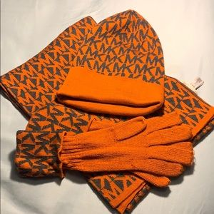 Michael Kors scarf, hat and gloves